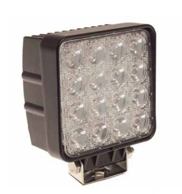 LED ARBETSLJUS 12/24V 16 LED 48W